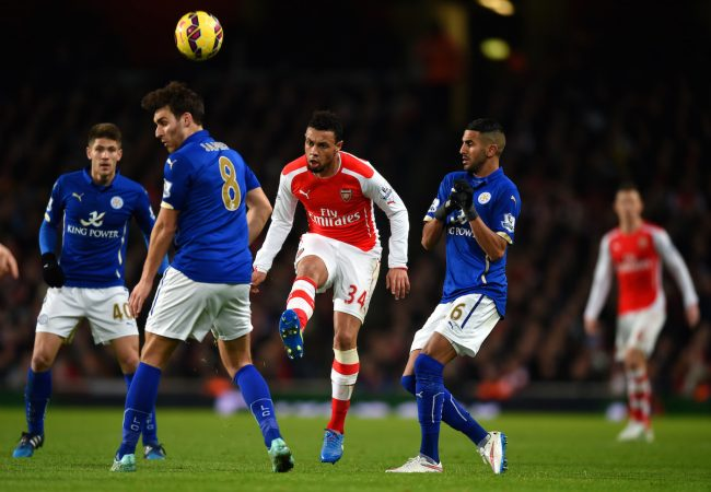LONDON, ENGLAND - FEBRUARY 10:  Francis Coquelin of Arsenal in action during the Barclays Premier League match between Arsenal and Leicester City at Emirates Stadium on February 10, 2015 in London, England.  (Photo by Michael Regan/Getty Images)