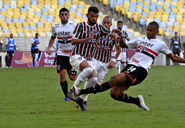 Rio de Janeiro, RJ - Brasil - 29/04/2018 - Maracanã - Campeonato Brasileiro. 3ª Rodada. Jogo Fluminense x São Paulo. .FOTO DE MAILSON SANTANA/FLUMINENSE FC..