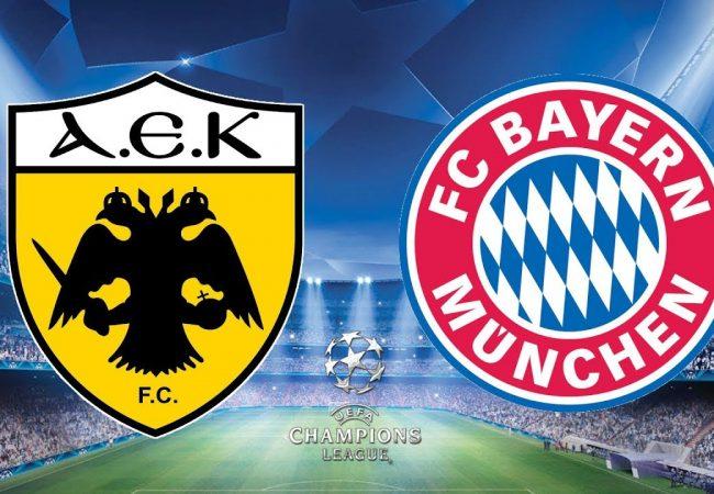 AEK Athens vs Bayern Munich Free Betting Tips 23/10