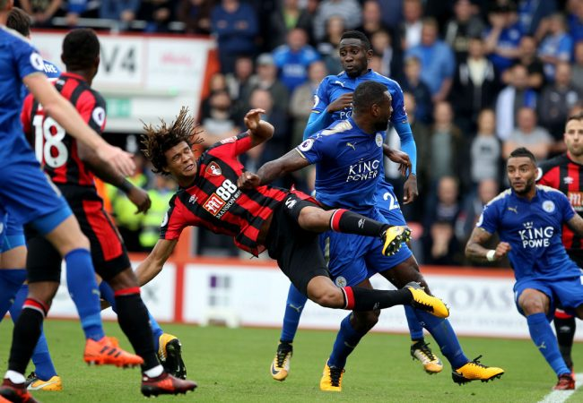 AFC Bournemouth v Leicester City at the Vitality Stadium. Nathan Ake.